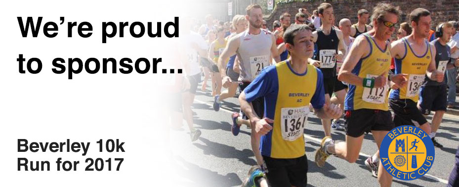 We're proud to sponsor Beverley 10k run for 2017